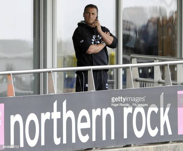 Yorkshires captain Darren Gough on the phone before the Twenty20 Cup quarter final match at Riverside ChesterleStreet Durham