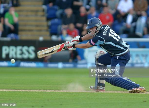 Yorkshire's Gary Balance in action during the Friends Life T20 Semi Final match at The SWALEC Stadium Cardiff