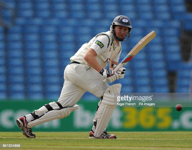 Yorkshire's Gary Ballance bats during day one of the LV County Championship match at Headingley Cricket Ground Leeds