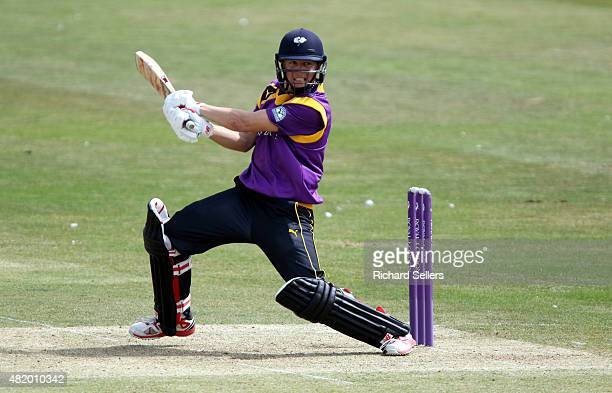 Yorkshire's Gary Ballance hits a boundary batting during the Royal London OneDay Cup between Yorkshire Vikings and Gloucestershire at North Marine...