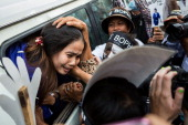 Yorm Bopha arrives at the Supreme Court for her appeal trial on November 22 2013 in Phnom Penh Cambodia Land rights activist Yorm Bopha was convicted...