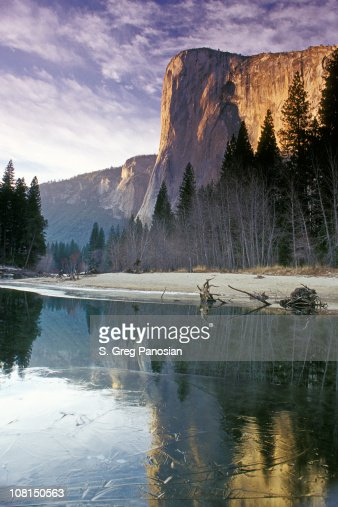 Yosemite El Capitan Mountain During Winter