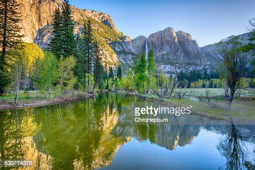 Yosemite Falls, Merced River, California, USA