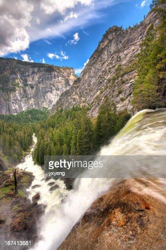 Yosemite National Park - Top of the Vernal Falls : Stock Photo