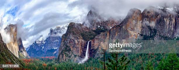 Yosemite National Park Tunnel View with Low Fog, California