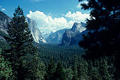 Yosemite Valley, California, USA, elevated view