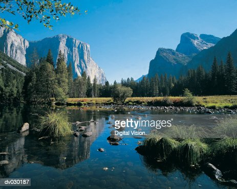 Yosemite valley from tunnel view, Yosemite National Park, California, USA : Stock Photo