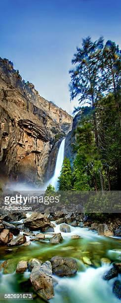 Yosemite Waterfall and stream