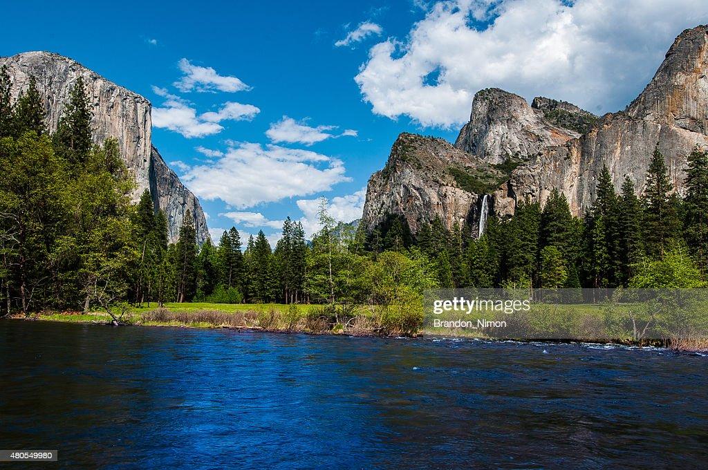 Vista de entrada de Yosemite : Foto de stock