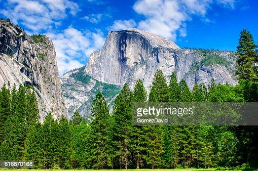Yosemite's Half Dome in the Spring : Stock Photo