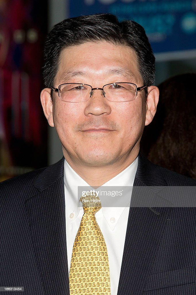Yoshi Uchiyama, VP, Business Planning, Corp. Communication & CSR Toshiba America Inc. attends Global Mom Relay Video Launch Event at Times Square on April 11, 2013 in New York City.