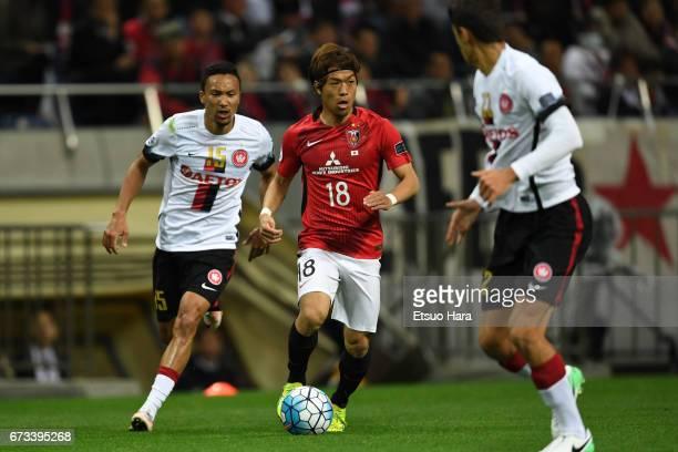 Yoshiaki Komai of Urawa Red Diamonds in action during the AFC Champions League Group F match between Urawa Red Diamonds and Western Sydney at Saitama...