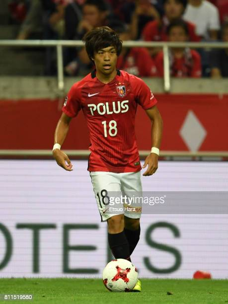 Yoshiaki Komai of Urawa Red Diamonds in action during the JLeague J1 match between Urawa Red Diamonds and Albirex Niigata at Saitama Stadium on July...