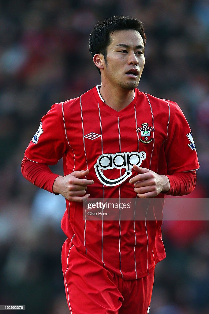 Yoshida Maya of Southampton in action during the Barclays Premier League match between Southampton and Queens Park Rangers at St Mary's Stadium on March 2, 2013 in Southampton, England.