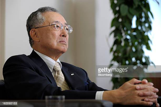 Yoshihiko Miyauchi chairman and chief executive officer of Orix Corp pauses during an interview in Tokyo Japan on Monday March 11 2013 Orix said...