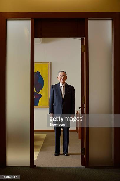 Yoshihiko Miyauchi chairman and chief executive officer of Orix Corp poses for a photograph in Tokyo Japan on Monday March 11 2013 Orix said selling...