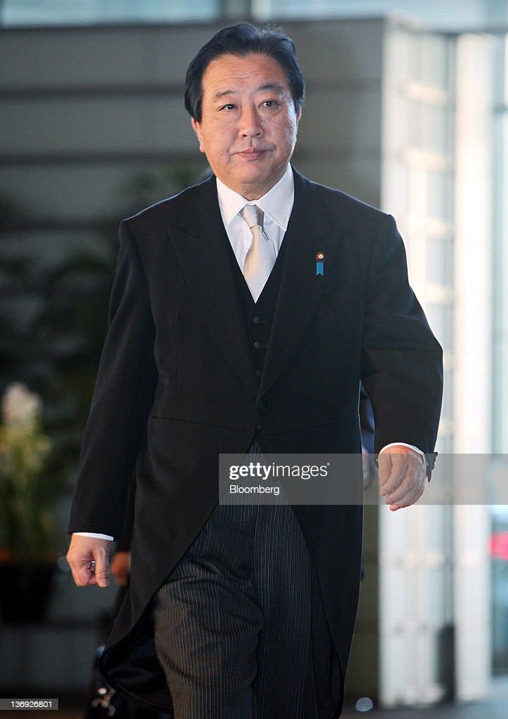 <a gi-track='captionPersonalityLinkClicked' href=/galleries/search?phrase=Yoshihiko+Noda&family=editorial&specificpeople=6441440 ng-click='$event.stopPropagation()'>Yoshihiko Noda</a>, Japan's prime minister, arrives at the prime minister's official residence in Tokyo, Japan, on Friday, Jan. 13, 2012. Noda reshuffled his Cabinet today to boost negotiations with the opposition over raising the national sales tax, as polls show rising discontent with his four-month-old administration. Photographer: Haruyoshi Yamaguchi/Bloomberg via Getty Images