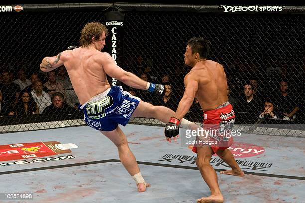 Yoshihiro Akiyama def Alan Belcher Split Decision during UFC 100 at Mandalay Bay Events Center on July 11 2009 in Las Vegas Nevada