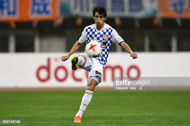 Yoshihiro Nakano of Vegalta Sendai in action during the JLeague J1 match between Albirex Niigata and Vegalta Sendai at Denka Big Swan Stadium on...