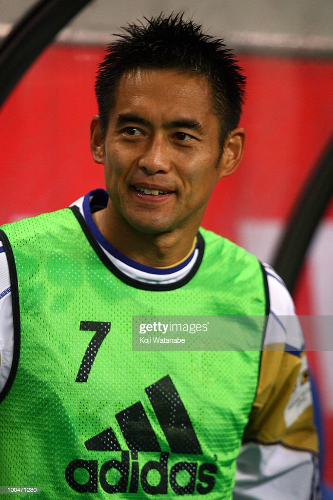 Yoshikatsu Kawaguchi of Japan looks on during the international friendly match between Japan and South Korea at Saitama Stadium on May 24, 2010 in Saitama, Japan.