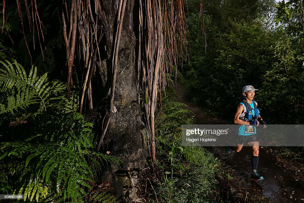 Yoshikazu Hara of Japan during the Tarawera Ultramarathon on February 6, 2016 in Rotorua, New Zealand.