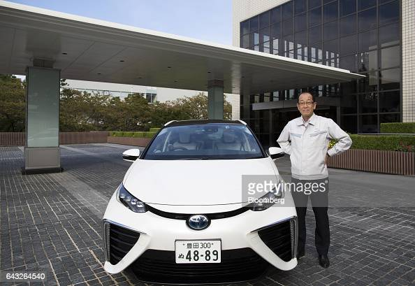 Yoshikazu Tanaka chief engineer of the Mirai fuelcell powered vehicle at Toyota Motor Corp poses for a photograph in Toyota City Aichi Japan on...