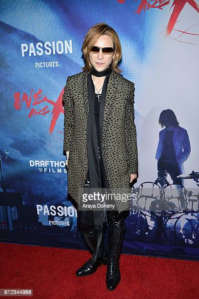 Yoshiki attends the Premiere of Drafthouse Films' 'We Are X' at TCL Chinese Theatre on October 3 2016 in Hollywood California