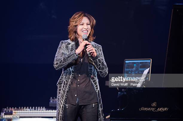 Yoshiki from Yoshiki Classical performs at Le Trianon on May 26 2014 in Paris France