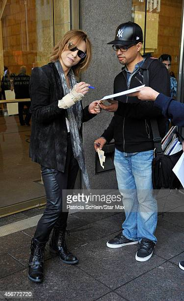 Yoshiki Hayashi is seen on October 6 2014 in New York City