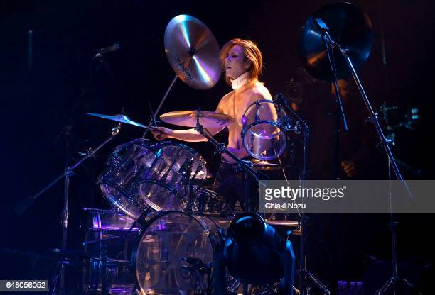 Yoshiki of X Japan performs at Wembley Arena on March 4 2017 in London United Kingdom