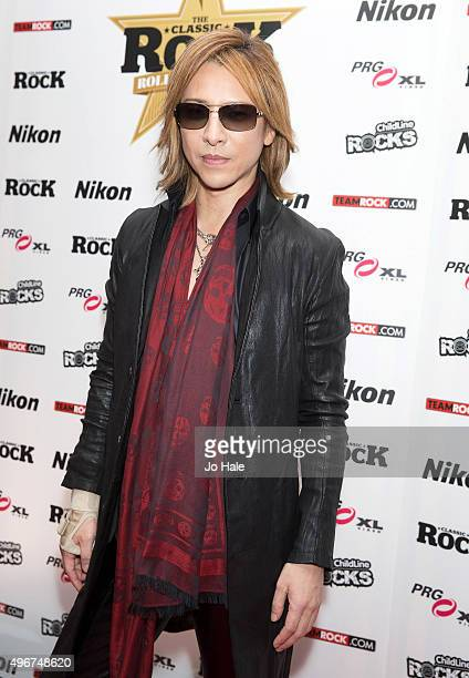 Yoshiki of XJapan attends the Classic Rock Roll of Honour at The Roundhouse on November 11 2015 in London England