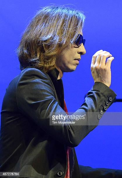 Yoshiki performs at Salesforcecom's Dreamforce 2014 Conference at Moscone South on October 15 2014 in San Francisco California