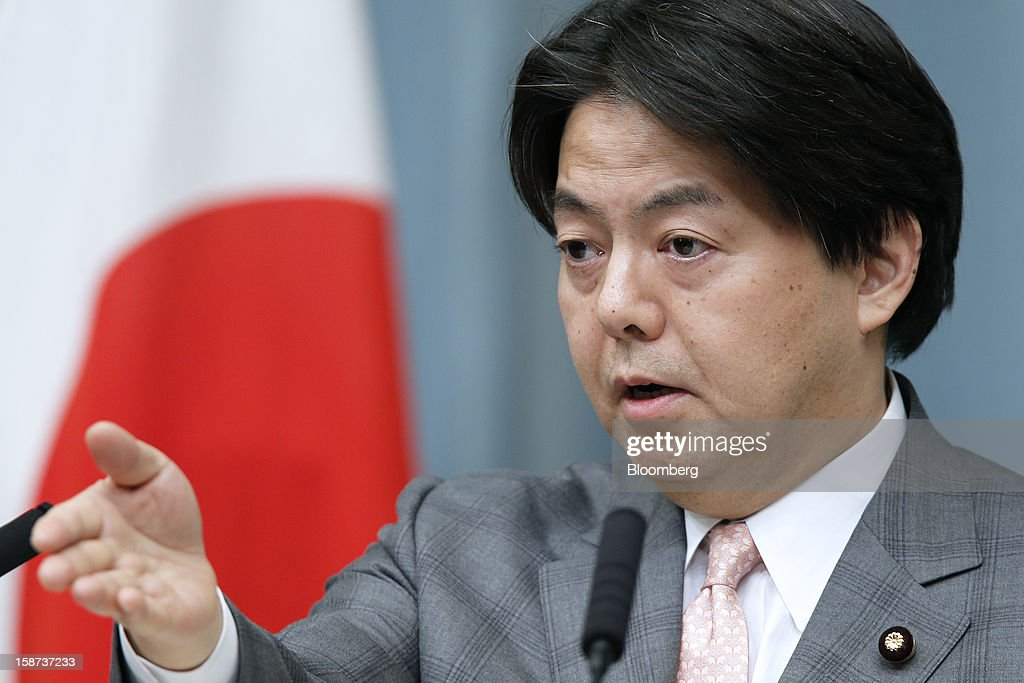<a gi-track='captionPersonalityLinkClicked' href=/galleries/search?phrase=Yoshimasa+Hayashi&family=editorial&specificpeople=3218021 ng-click='$event.stopPropagation()'>Yoshimasa Hayashi</a>, Japan's newly appointed minister of agriculture, forestry and fisheries, speaks during a news conference at the prime minister's official residence in Tokyo, Japan, on Thursday, Dec. 27, 2012. Japan's parliament confirmed Shinzo Abe as the nation's seventh prime minister in six years, returning him to the office he left in 2007 after his party regained power in a landslide election victory last week. Photographer: Kiyoshi Ota/Bloomberg via Getty Images