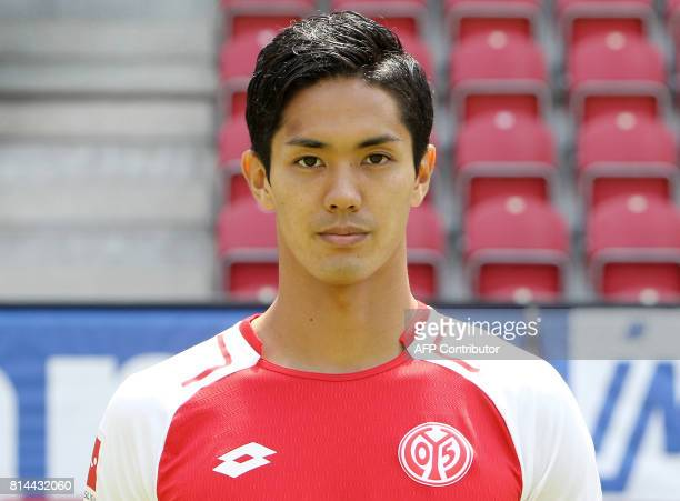 Yoshinori Muto of first division Bundesliga football team FSV Mainz 05 poses for a photo in Mainz Germany on July 14 2017 / AFP PHOTO / Daniel ROLAND