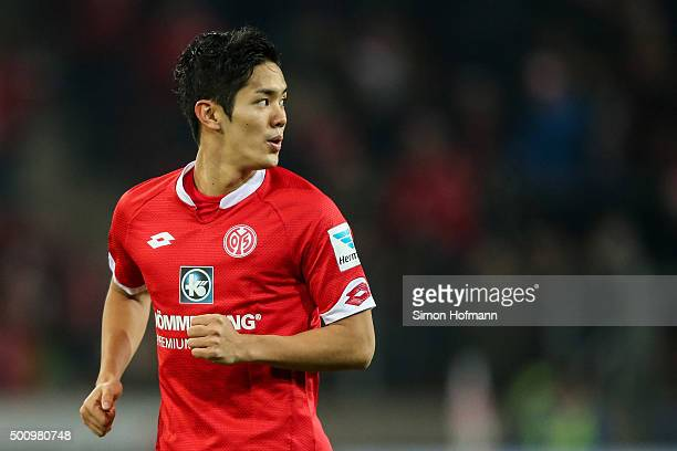 Yoshinori Muto of Mainz looks on during the Bundesliga match between 1 FSV Mainz 05 and VfB Stuttgart at Coface Arena on December 11 2015 in Mainz...