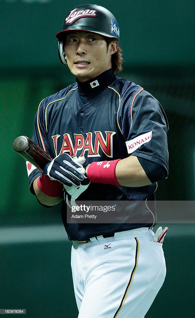 Yoshio Itoi of Japan walks off the field after getting out during the World Baseball Classic First Round Group A game between Brazil and Japan at Fukuoka Yahoo! Japan Dome on March 2, 2013 in Fukuoka, Japan.