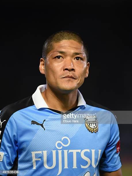 Yoshito Okubo looks on prior to Emperor's Cup third round match between Kawasaki Frontale and Kyoto Sanga on October 14 2015 in Kawasaki Kanagawa...