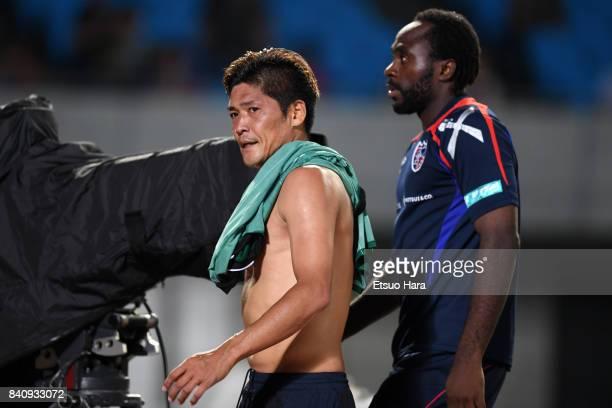Yoshito Okubo of FC Tokyo reacts after the JLeague Levain Cup quarter final first leg match between Kawasaki Frontale and FC Tokyo at Todoroki...