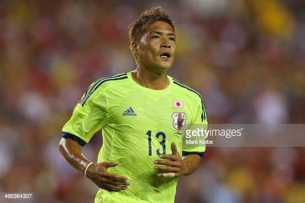 Yoshito Okubo of Japan reacts after a missed shot on goal during the International Friendly Match between Japan and Costa Rica at Raymond James...