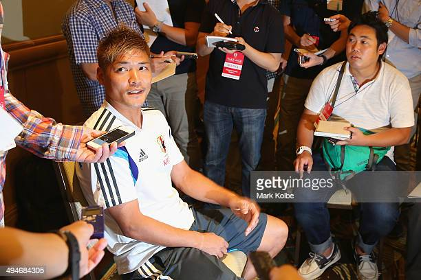 Yoshito Okubo of Japan speaks to the press during a media session at the Hyatt Regency Clearwater Beach Resort and Spa on May 30 2014 in Clearwater...