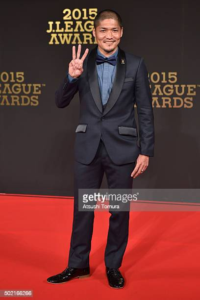 Yoshito Okubo of Kawasaki Frontale attends the J League Awards 2015 on December 21 2015 in Tokyo Japan