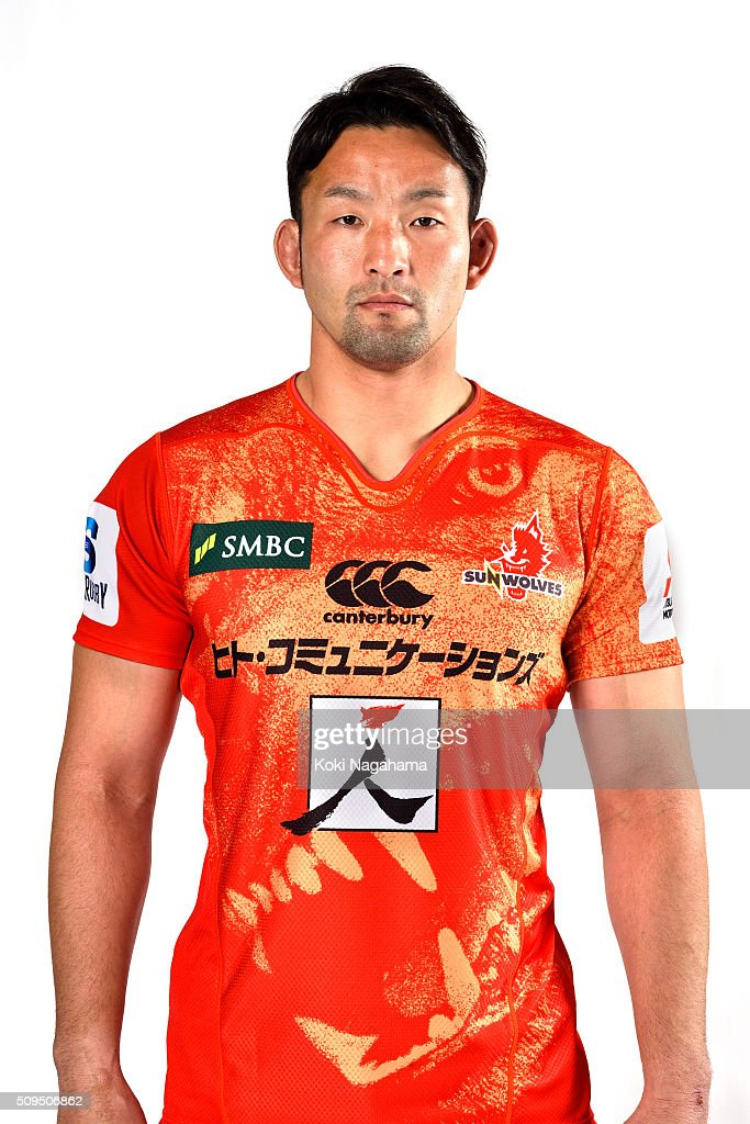 Yoshiya Hosoda poses during the Sunwolves 2016 Super Rugby headshots session on February 11, 2016 in Tokyo, Japan.