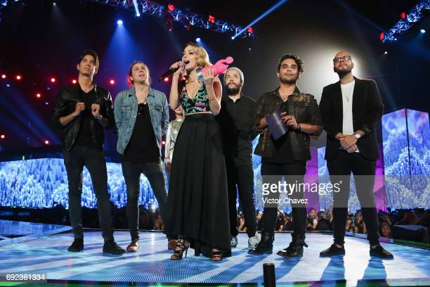 YosStop speaks on stage during the MTV MIAW Awards 2017 at Palacio de Los Deportes on June 3 2017 in Mexico City Mexico