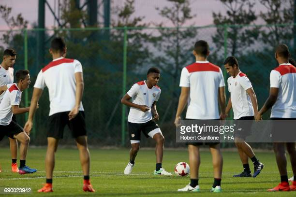 Yostin Salinas of Costa Rica during a Costa Rica U21 FIFA World Cup training session at the Jeonju World Cup Training Field on May 30 2017 in Jeonju...