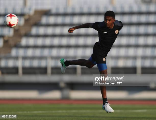 Yostin Salinas of Costa Rica in action during their training Session at Kang Chang Hak Stadium on May 19 2017 in Jeju South Korea