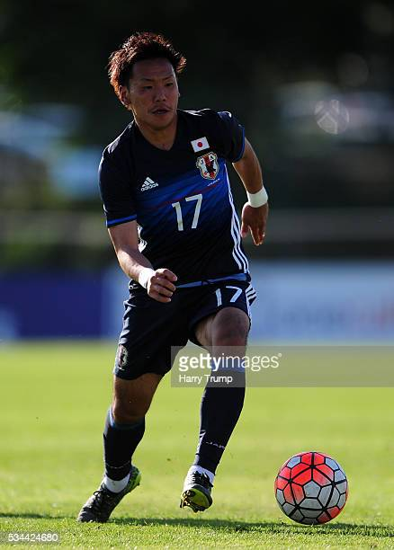 Yosuke Ideguchi of Japan during the Toulon Tournament match between Japan and Portugal at Stade De Lattre on May 23 2016 in Aubagne France