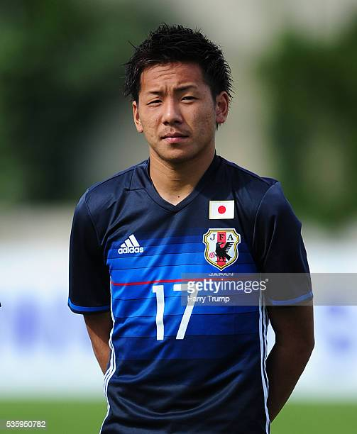 Yosuke Ideguchi of Japan during the Toulon Tournament match between Japan and England at the Stade Leo Lagrange on May 27 2016 in Toulon France
