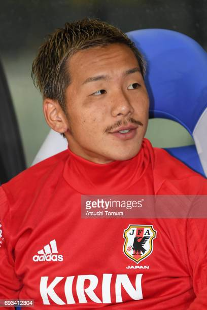 Yosuke Ideguchi of Japan looks on during the international friendly match between Japan and Syria at Tokyo Stadium on June 7 2017 in Chofu Tokyo Japan