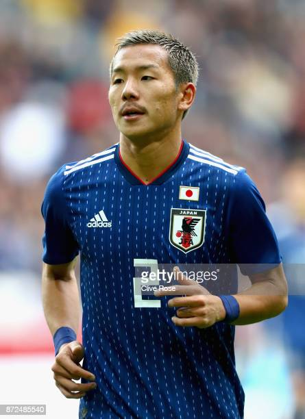 Yosuke Ideguchi of Japan looks on during the international friendly match between Brazil and Japan at Stade PierreMauroy on November 10 2017 in Lille...