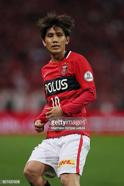 Yosuke Kashiwagi of Urawa Red Diamonds during the JLeague Championship Final second leg match between Urawa Red Diamonds and Kashima Antlers at...
